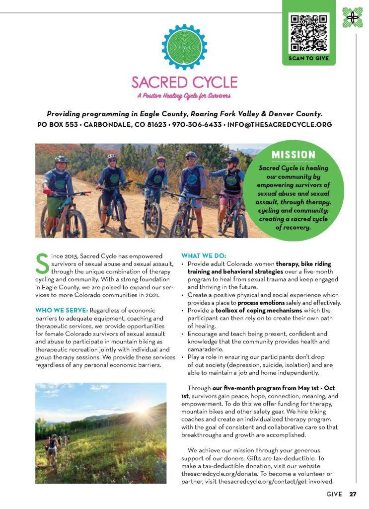Give Magazine SacredCycle 2020-2021 Tearsheet page2